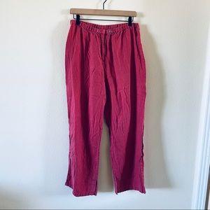 Linen J. Jill pants with unique stitching